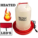 Rite Farm Products 3.7 Gallon Heated Poultry Chicken Waterer Drinker