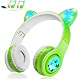 Kids Wireless Headphones, LED Flashing Lights, Music Sharing Function, Long Lasting Battery and Build-in Mic Wireless…