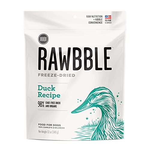 BIXBI Rawbble Duck, 12-Ounce