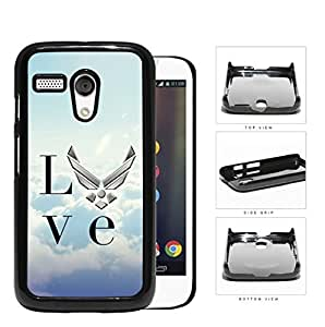 Love United States Air Force Hard Plastic Snap On Cell Phone Case Motorola Moto G
