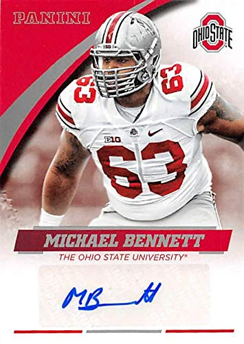 Michael Bennett autographed Football Card (Ohio State Buckeyes) 2015 Panini Team Collection #MB-OSU - NFL Autographed Football Cards (Autographed Bennett Football)