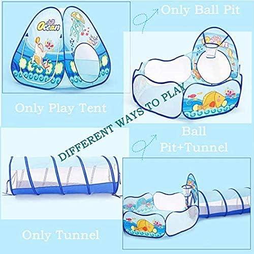 Tiendas De Campa/ña para Ni/ños con Tunel Infantil Y Piscina De Bolas Pop Up Tienda De Juegos Plegable para Ni/ños Ni/ñas Beb/és Y Ni/ños Peque/ños para Interiores Y Exteriores,Blue