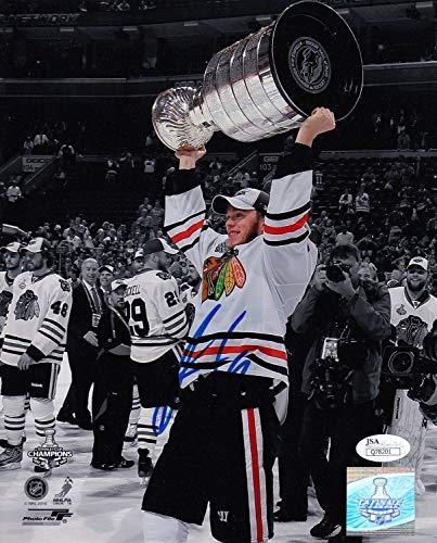 Jonathan Toews Blackhawks Autographed Signed Memorabilia Cup Photograph 8x10 Nhl Hockey JSA