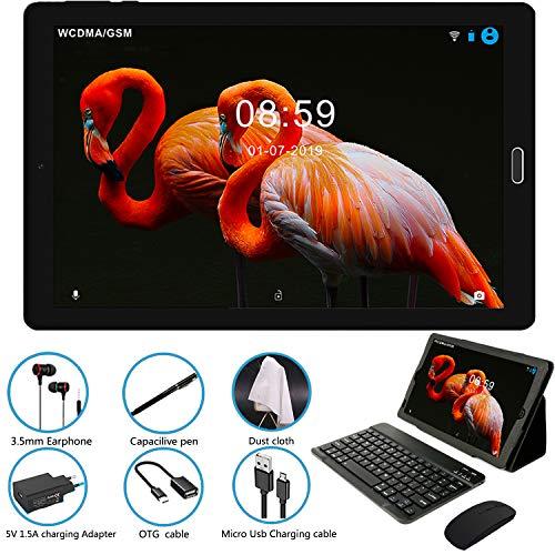 Tablet 10 Pollici Tablet Android 8.0 4G LTE Dual SIM + SD Slot,Processore Quad Core, 1.5GHz 3G + 32GB Doppia Fotocamera WiFi Bluetooth