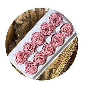 Sevem-D 10 Heads Flowers Preserved Flowers Flower Immortal Rose 4Cm Diameter Eternal Life Flower 29
