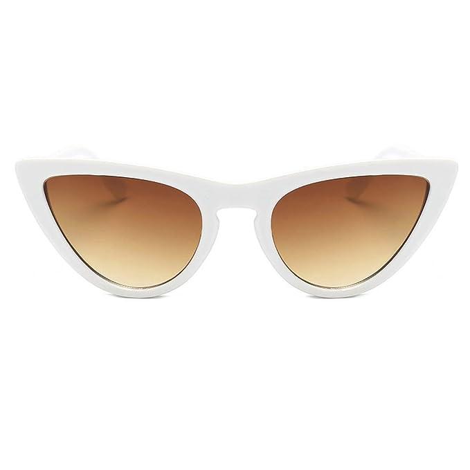 KanLin1986-Gafas Gafas de sol de ojos del gato, Moda Vintage Polarizado Gafas Unisex,Gafas de sol de Lente de película de marcos de acetato,UV gafas ...