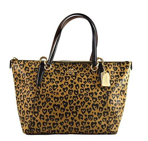 Coach Wild Heart Ava Tote Shoulder Bag Purse Handbag, Natural (Heart Open Top Tote)