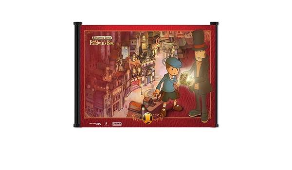 El profesor Layton y Pandora la caja de juego de tela Póster de desplazamiento de pared (21