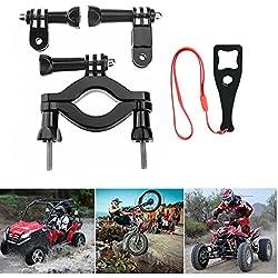 Fantaseal Action Camera Motor Bike Mount Acessories Kit for GoPro Motor Bike Mount Handlebar Mount GoPro Roll Bar Mount w/ Pivot+ Screw + Wrench for GoPro Hero 5 /4/3/Sessio SJCAM Garmin Virb XE etc