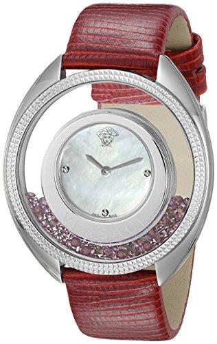 Versace Women's VQO010015 Destiny Precious Analog Display Swiss Quartz Red Watch