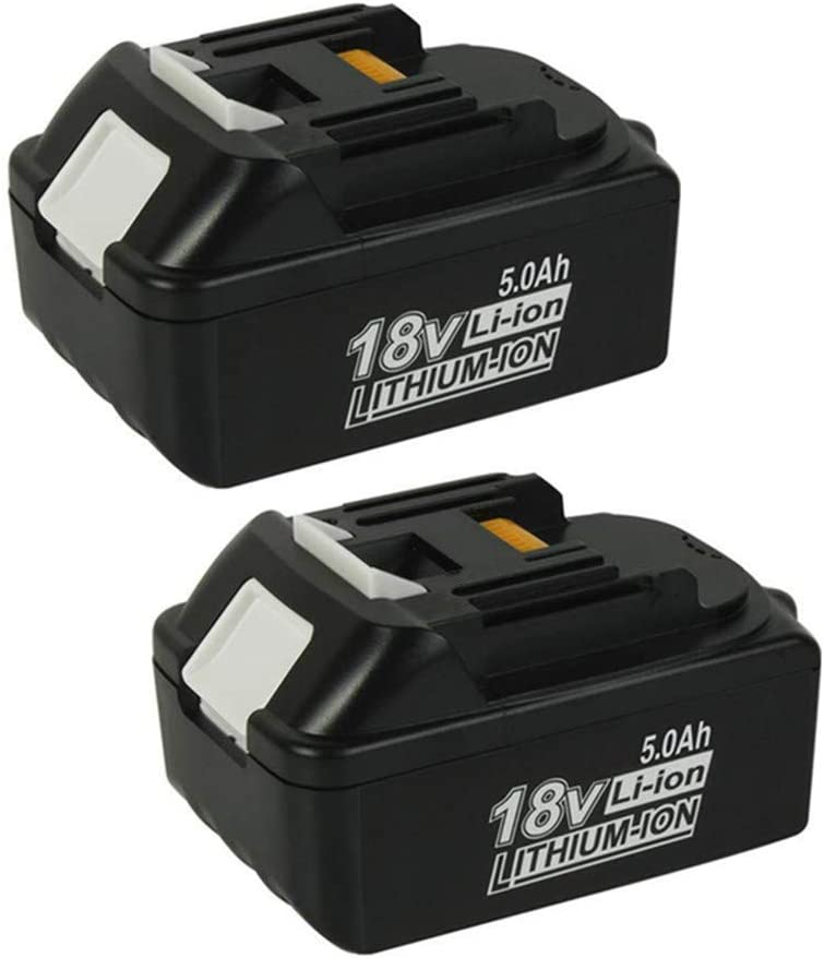 2 Pack MANUFER BL1850 Replacement Battery for Makita 18V 5.0Ah Li-Ion Compatible with Makita BL1850 BL1840 BL1830 BL1820 BL1815 194205-3 LXT400 for Makita Batteries