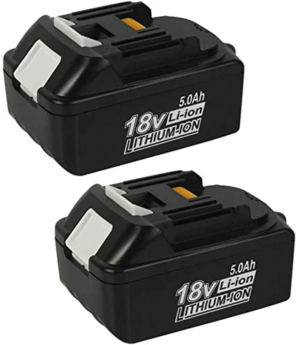 2 batterie agli ioni di litio di ricambio per Makita BL1850 BL1850B BL1840B BL1840 BL1830B BL1830B BL1830 BL1845 BL1835 BL1850 194204-5 BL1815