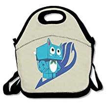 Fairy Tail Happy Insulated Lunch Bag/ Backpack / Tote With Zipper, Carry Handle And Shoulder Strap For Adults Or Kids