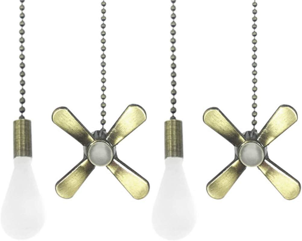 Opplei Cadena para ventilador de techo de aleación de 12 pulgadas, colgante de hoja de ventilador, cadena de extensión de bola, 1 paquete de bronce de 13peas