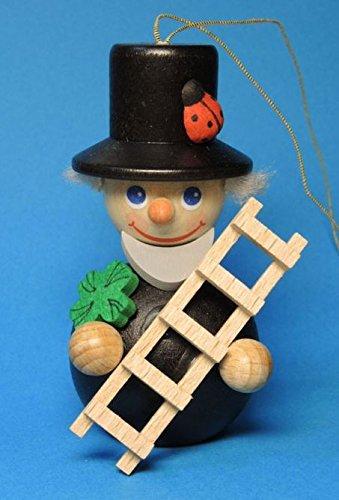 Pinnacle Peak Trading Company Chimney Sweep Holding Ladder German Wood Christmas Ornament Decoration Germany