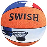 iscream Game On! 'Swish' Photoreal Basketball Shaped 13'' Microbead Accent Pillow
