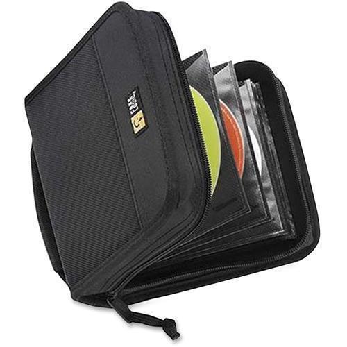 - CDW-32BLACK Case Logic 32 Capacity CD Wallet - Book Fold - Nylon - Black - 32 CD/DVD