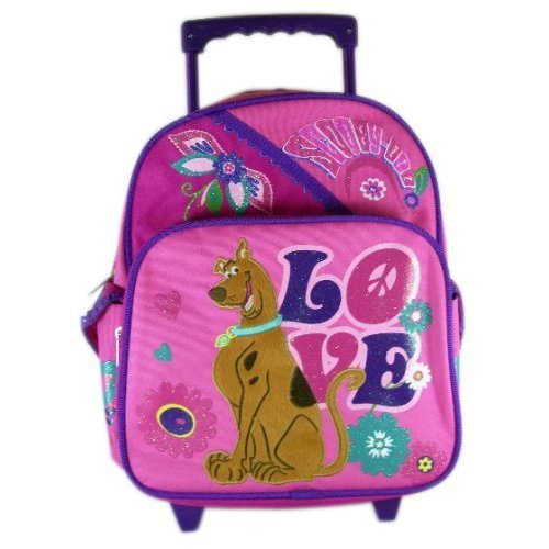 Scooby Doo ''Peace & Love'' Toddler 12'' Rolling Backpack
