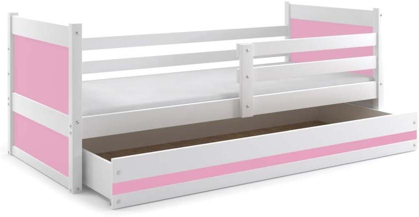 Cama individual RICO blanco, con colchón 200x90, somier y ...
