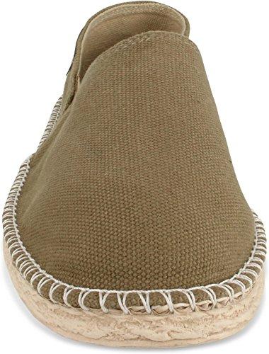 Herren Gr Stoffschuhe normani Flache Style Freizeitschuhe 46 für Schuhe Espadrillas 36 Sommer Khaki Damen 2 Klassische und vBwPpBfq