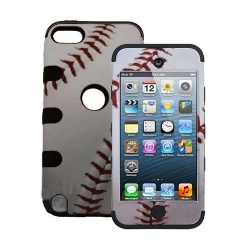 Luxury 3 in 1 iPod Touch 5th case for boys, Sports Collection Hybrid Combo Case for iPod Touch 5th Generation (Baseball)