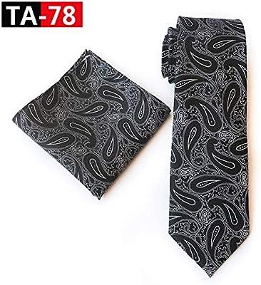 CDBGPZLD Conjunto de Corbata Azul Marino de 8 cm para Hombre ...