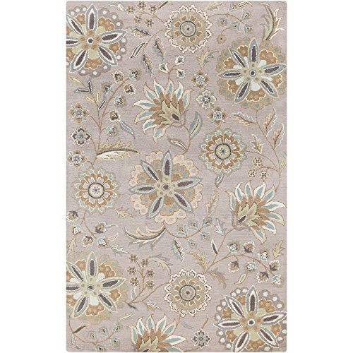 Surya Athena ATH-5127 Hand Tufted Wool Floral and Paisley Accent Rug, 2-Feet by 3-Feet