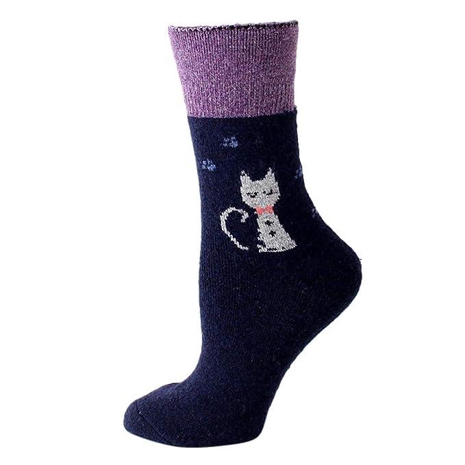 BHYDRY Calcetines de animales lindos para mujer Coloridos Divertidos Gato casual Calcetines de algodón: Amazon.es: Ropa y accesorios