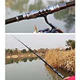 GUAITAI Professional Black Telescopic Fishing Rods Carbon Fiber Spinning Rods 1.8-3.3m