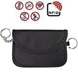 ZOORE Car Key Signal Blocker, Faraday Cage,Signal Blocker Case, Car Key Signal Blocker Case, RFID Signal Blocking Bag Antitheft Lock Devices, Car Key Protector WiFi/GSM/LTE/NFC/RF Blocker (Black)