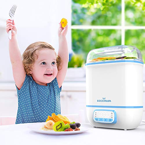 51oVIeJ9UkL - Eccomum Baby Bottle 𝘚𝘵𝘦𝘳𝘪𝘭𝘪𝘻𝘦𝘳 And Dryer, LED Touch Screen, 360° Steam 𝐃𝐢𝐬𝐢𝐧𝐟𝐞𝐜𝐭𝐢𝐨𝐧 & Drying, Super Large Capacity, HEPA Filter, Homemade Dried Fruit