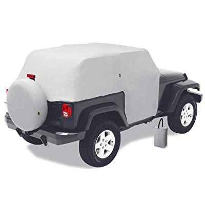 Bestop 8104009 Charcoal All Weather Trail Cover for 2007-2020 Wrangler 2-Door: Automotive