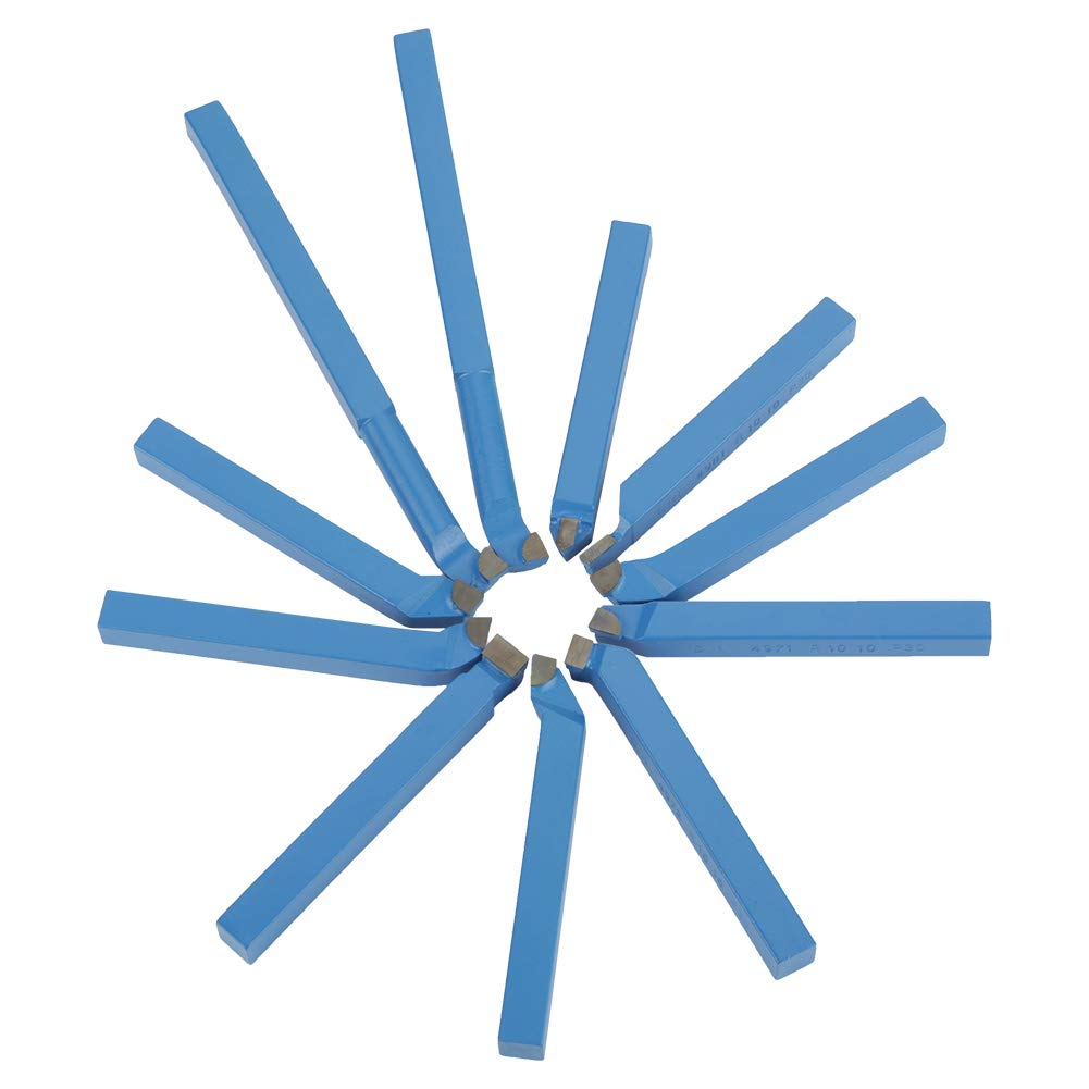 BigBig Style 11Pcs Lathe Tool Kits Carbide Tipped Welding Milling Cutting Turning Tool Set 88mm
