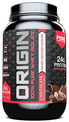 Whey Protein Isolate, Cold Processed Undenatured, Keto Friendly Whey Protein Powder, Non GMO, Gluten Free, Lactose Free, Sugar Free, 2 pounds (Chocolate)