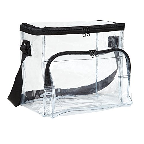 Large Clear Lunch Bag / Lunch Box with Adjustable Strap and Front Storage Compartment