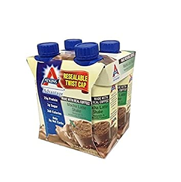 Atkins Ready To Drink Shake, Mocha Latte, 4x11oz Shake Pack of 6 24 Total Shakes