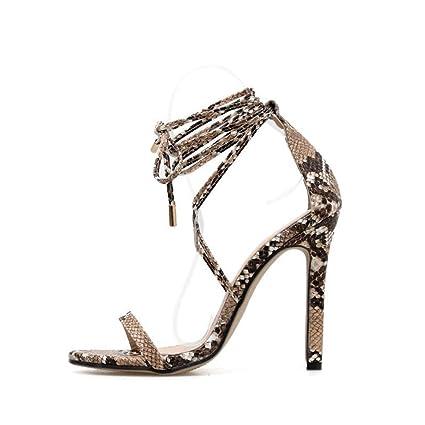 0b22f83e922be Amazon.com: YXB Women's Stiletto Shoes 2019 Ultra High Heels PU Peep ...