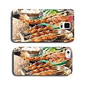 Cabodian grilled meat and fish. Tonle Sap Lake. cell phone cover case Samsung S6