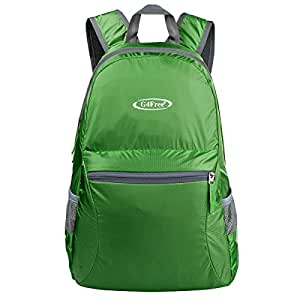 G4Free Ultra Lightweight Packable Backpack Hiking Daypack ,Handy Foldable Camping Outdoor Backpack(Army Green)