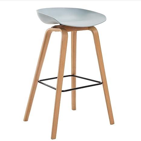 GZD Sgabello alto Sgabelli moderni da cucina con gambe in legno ...