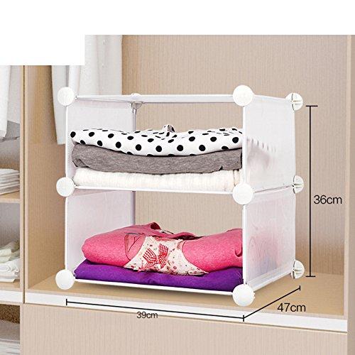 hot sale wardrobe storage rack/hierarchical partition/Kitchen storage racks/Separated bathroom shelf/Toy storage rack-M