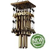 YLYYCC Brassiness Wind Chime 24 Tube Metal Windbell Money Drawing Wind Chime