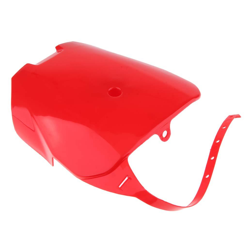Placa de N/úmero Frontal de Matricul/á Pieza de Modificaic/ón de Moto Rojo