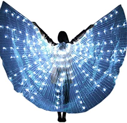 Child LED Isis Wings Belly Dancing Dance Costumes Light up Wing 360 Degree