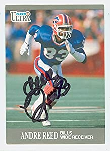 Andre Reed AUTOGRAPH 1991 Fleer Ultra Buffalo Bills HOF '14