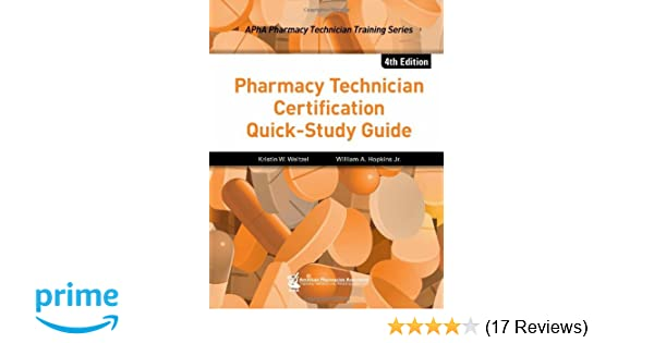 Pharmacy Technician Certification Quick-Study Guide (Apha Pharmacy ...