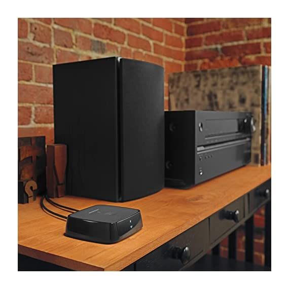 Bose SoundTouch Wireless Link Adapter Black 5 Works with Alexa for voice control (Alexa device sold separately). Connects to any existing stereo or home theatre system to stream music wirelessly Uses your home Wi-Fi network or Bluetooth devices for easy access to Spotify, Pandora and Amazon music