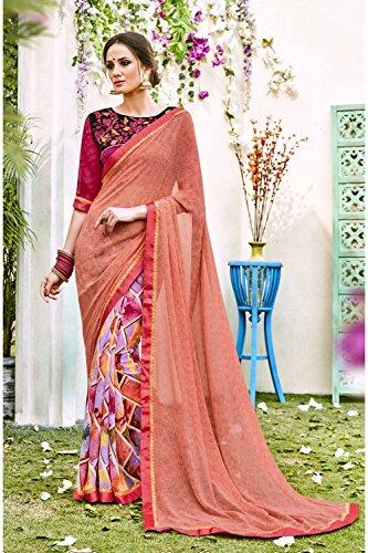Da Facioun Sari Indiani Per Le Donne Di Nozze Partito Progettista Etnica Indossare Tradizionale Sari Rosa, Più 171