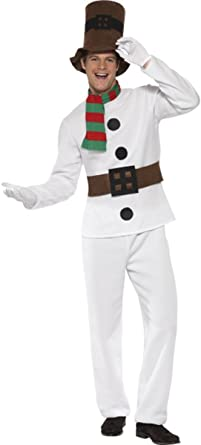 Mens Cute Snowman TV Film Christmas Xmas Winter Fun Fancy Dress Costume Outfit