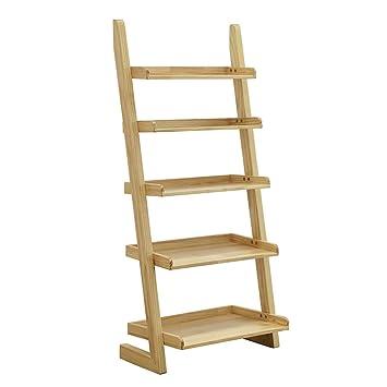 Amazon.com: Li Na Home - Estantería de madera maciza con ...
